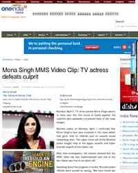 Mona Singh MMS Video Clip TV actress defeats: Oneindia